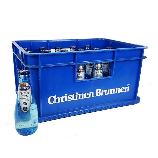 Christinen Brunnen Bio spritzig Blauglas