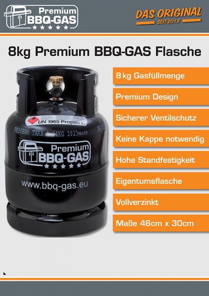 Gas Propan 8KG BBQ-Flasche=(KAUF)