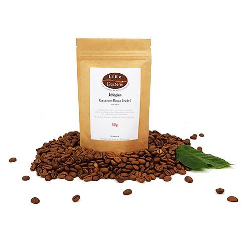 LiKe Kaffee Äthiopien Abessinien Mocca Grade 1 50g