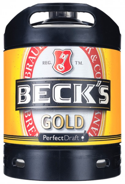 Beck 's Gold PerfectDraft 6 Ltr. Faß