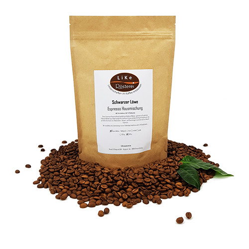 LiKe Kaffee Schwarzer Löwe Espresso ganze Bohne 500g